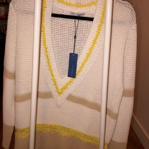 NWT REBECCA MINKOFF Color block sweater